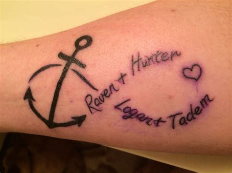 anchor tattoos with names my new infinity anchor names a