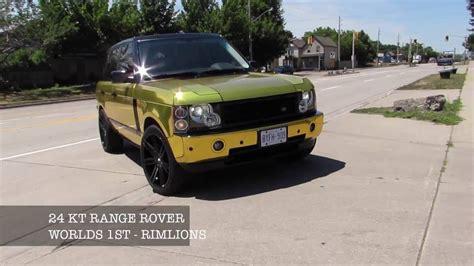gold range rover gold range rover 24 karat gold