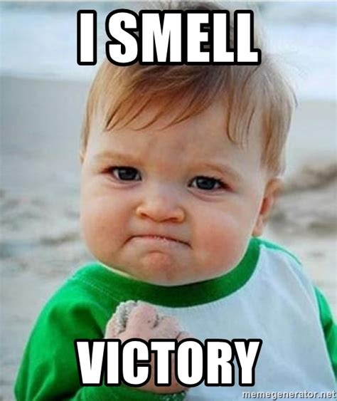 Victory Baby Meme - i smell victory victory kid meme generator