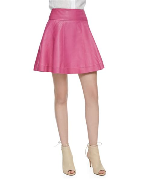 cusp by neiman leather skater skirt bright pink