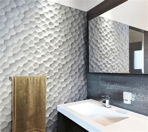 Bathroom Ceramic Wall Tile Ideas 25 Spectacular 3d Wall Tile Designs To Boost Depth And