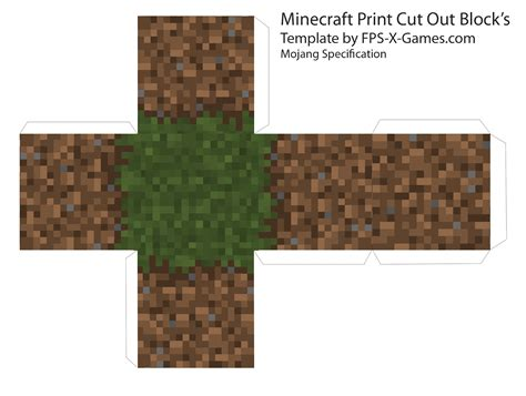 Minecraft Papercraft Wooden Planks - minecraft minecraft cube s printable cut out block s