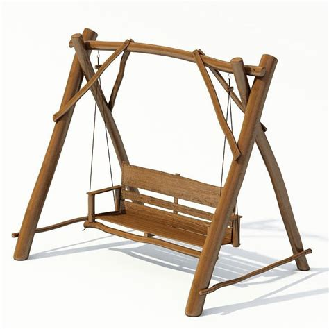 swing 3d outdoor garden swing 3d model cgtrader com