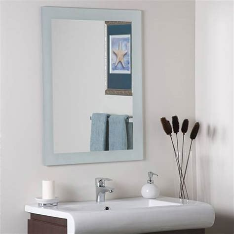 large bathroom mirror frameless sands large frameless mirror decor wonderland wall mirror