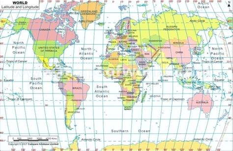 map of usa with latitude and longitude lines world map with latitude and longitude lines large world