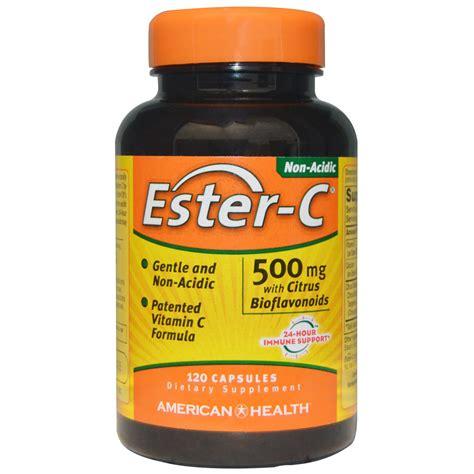 ester c american health ester c with citrus bioflavonoids 500 mg