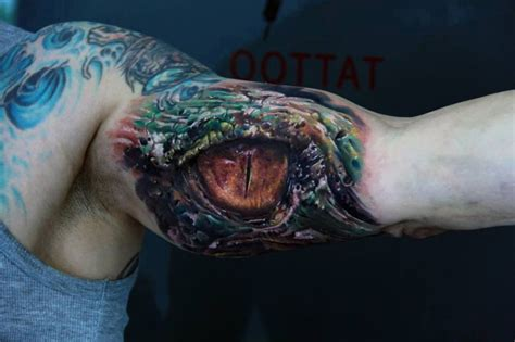 tattoo eye reptile colorful spooky eye reptile tattoo on arm tattooimages biz
