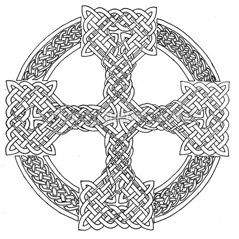 cross mandala coloring pages celtic cross lineart by maggiebr on deviantart