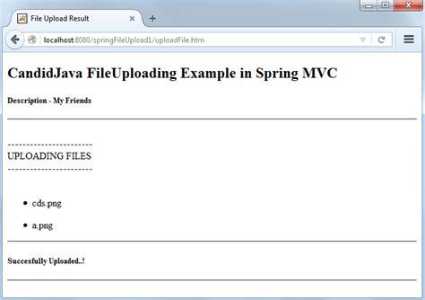 tutorial java spring mvc spring mvc file upload tutorial with exle