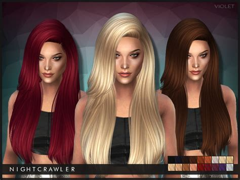 sims 3 cc hair color nightcrawler sims nightcrawler violet