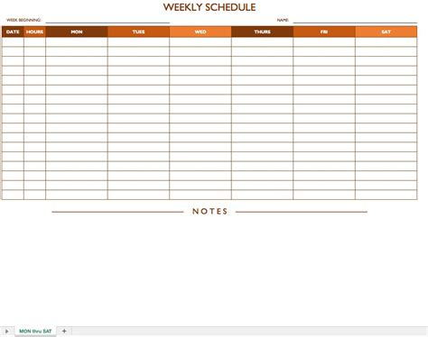 weekly calendar 2013 for excel 4 free printable templates