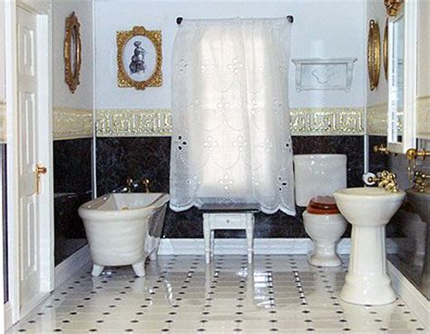 miniature dollhouse bathrooms 131 best dollhouse bathrooms images on pinterest