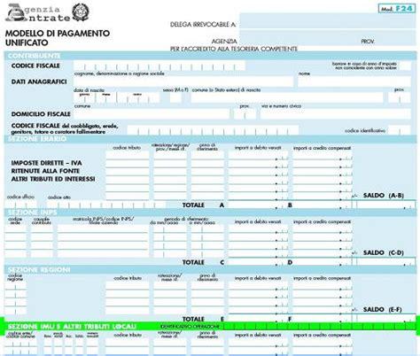 elenco codici ufficio f23 agenzia delle entrate modulistica f24 compilabile