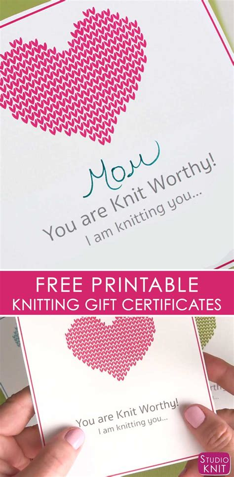 knitting related gifts free knitting gift certificate printable studio knit
