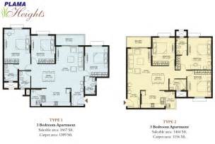 Floor Plan Com Plama Heights Floor Plan Hennur Main Road Apartments