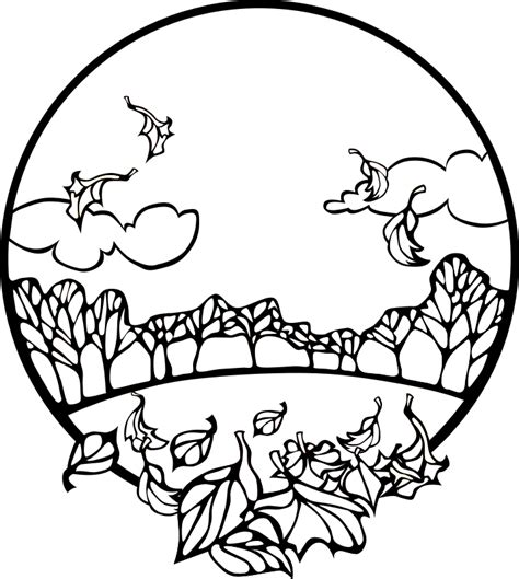 coloring pages of fall scenes fall scene coloring page by pianobrad a fall scene