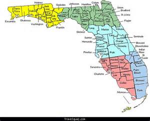 images map of florida counties with cities travel