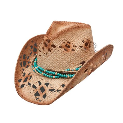high strung womens shapeable straw cowboy hat
