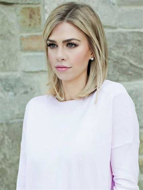 hairstyles for blonde long length hair 25 beautiful medium length haircuts for round faces