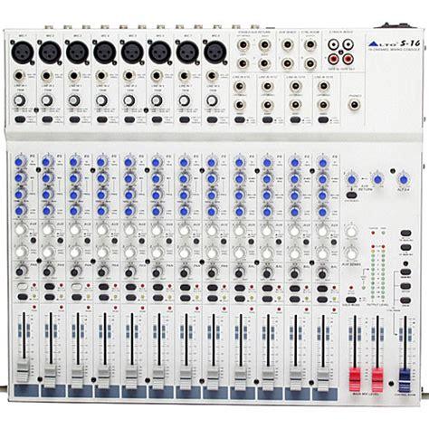 Mixer Alto S16 Alto S16 16 Channel 2 Desktop Recording Mixer S16 B H Photo