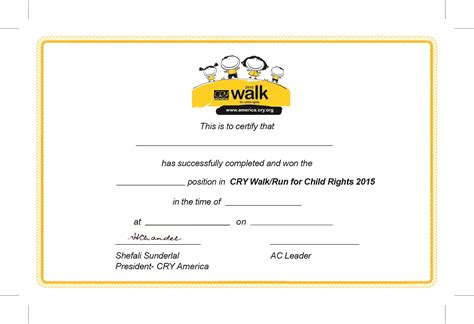 walking certificate templates 17 winning certificate template golden rosette royalty