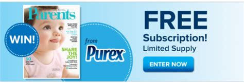 Parents Magazine Sweepstakes - purex parents magazine sweepstakes win a free subscription to parents magazine