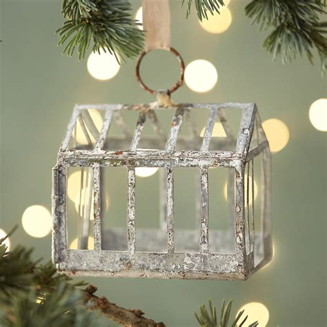 terrain home decor zinc greenhouse ornament terrain