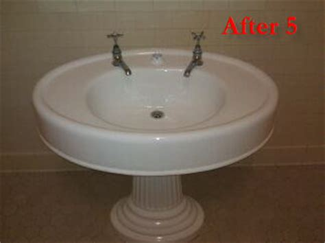reglaze bathroom sink pedestal bathroom sink refinishing reglazing