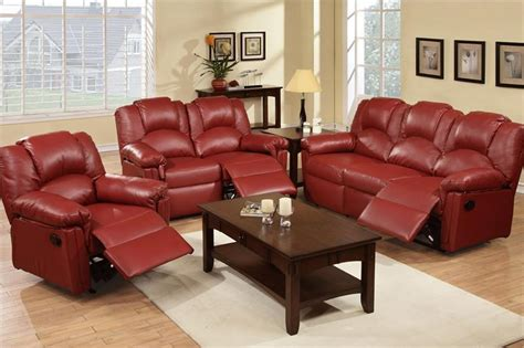 Burgundy Loveseat by Burgundy Recliner Sofa Set Style F6678