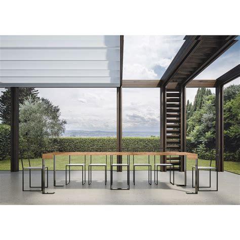 abete nano da giardino tavolo consolle allungabile design moderno piano quercia