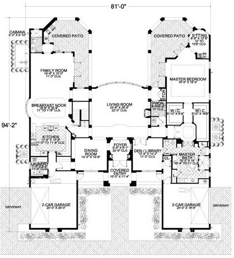 symmetrical house plans somewhat symmetrical floor plan floorplans pinterest