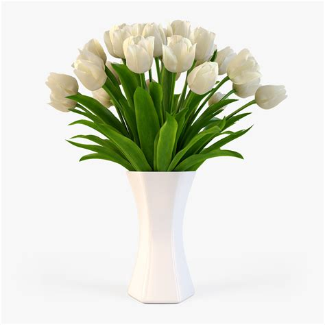 Vase With Tulips by Vase Tulips 3d Model
