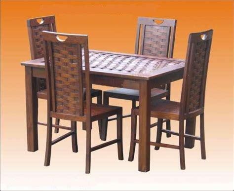 Meja Makan Anyaman set meja dan kerusi makan dinning set aneka perabot
