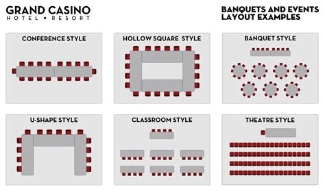 event layout styles event layouts grand casino hotel resort