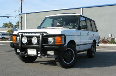how does cars work 1991 land rover range rover engine control purchase used 1991 range rover alpine white in venice california united states for us 4 500 00