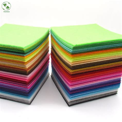 Handmade Fabrics - 88 colors lot 10x10cm felt fabric polyester 1 mm thick non