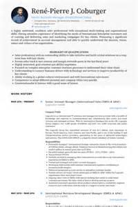 Resume Sles International Business Senior Account Manager Resume Sles Visualcv Resume Sles Database