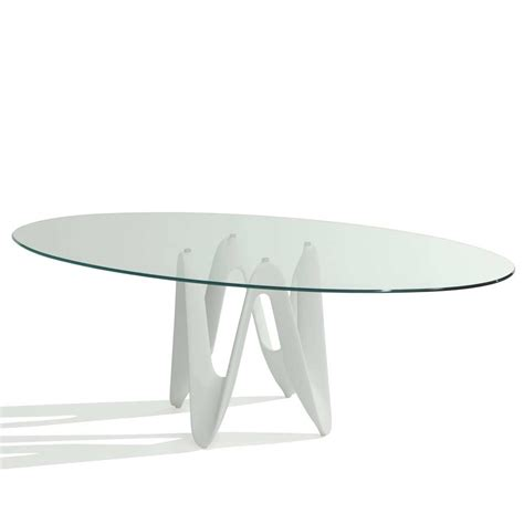 Oval Glass Kitchen Table Global Furniture Exclaim Oval