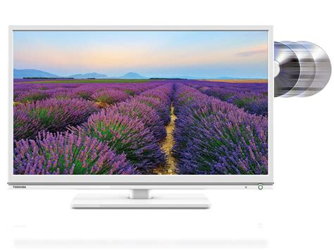 Tv Toshiba 24 Inch toshiba 24d1534db 24 inch hd ready led tv dvd combi built in freeview usb white ebay