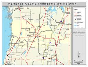 map hernando county florida hernando county road network color 2009