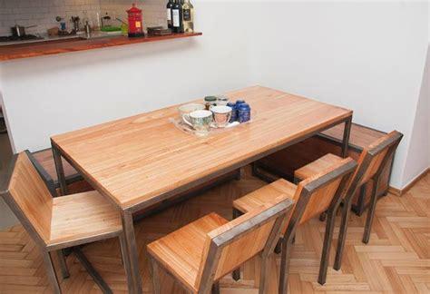 mesa comedor chipi madera  hierro muebles  disenos