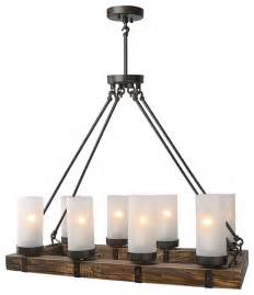 Rustic Island Lighting Stark 8 Light Pendant Rustic Kitchen Island Lighting By Lnc Home