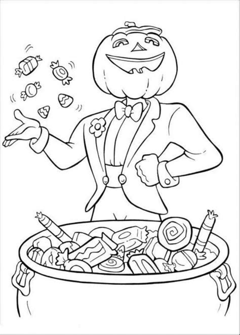 hard halloween coloring pages to print images