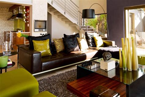 south african home decor south african house remodeling modern living room with green accents decoist