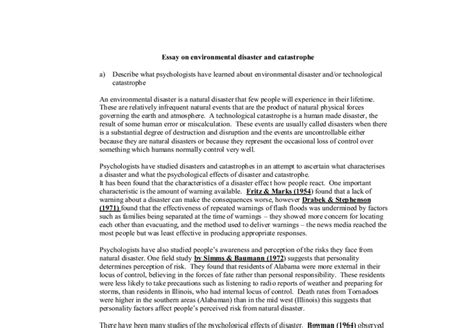 Disaster Essay by Biological Disaster Essays