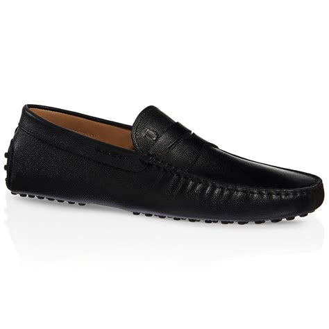 driving shoes tod s gommino driving shoes in leather in black for lyst