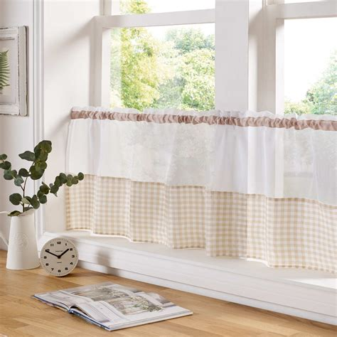 ready made bathroom curtains sheer voile cafe panel kitchen bathroom ready made tier