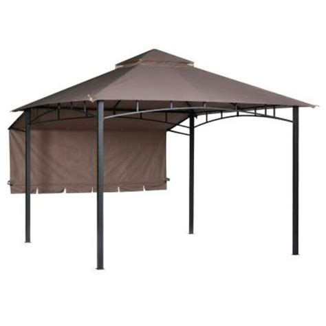 10 Ft Awning 10 Ft X 10 Ft Brown Roof Style Garden House With Awning