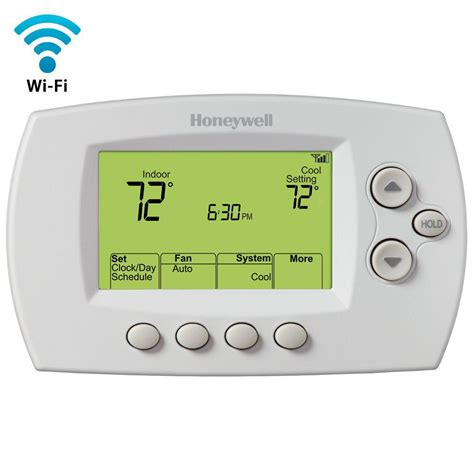 Honeywell Wi Fi 7   Day Programmable Thermostat   Free App RTH6580WF   The Home Depot