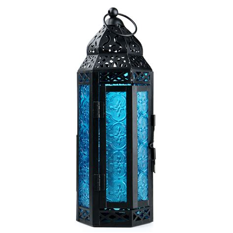 Glass Lantern Candle Holder by Glass Metal Moroccan Delight Garden Candle Holder Table
